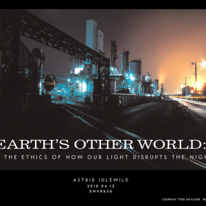 Earth's other world: on the ethics of how our light disrupts the night