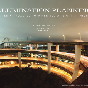 Illumination planning: better approaches to wiser use of light at night