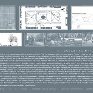 Urban design site analysis: four configurations of public spaces in Montréal