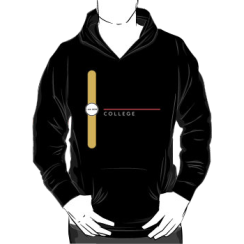 COLLEGE - hoodie silhouette