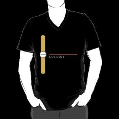 COLLEGE - vneck silhouette