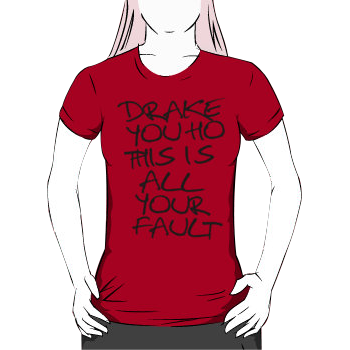Drake you ho this is all your fault - women's silhouette