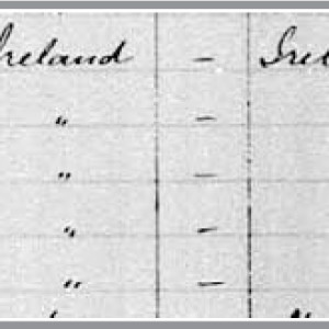 Figure 1. Census of Canada, 1891. The Wellington Wallace (Sr.) household entry.