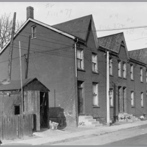 Figure 10. Richard Wallace built 2–14 Dean St. (west side) between 1885 and 1889 (City of Toronto Archives, 10 November 1947).