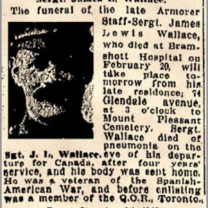 Figure 15. James L. Wallace, the youngest brother in the Wallace family. He worked as a contractor before military service (Toronto Star, via Ministry of Veterans Affairs).