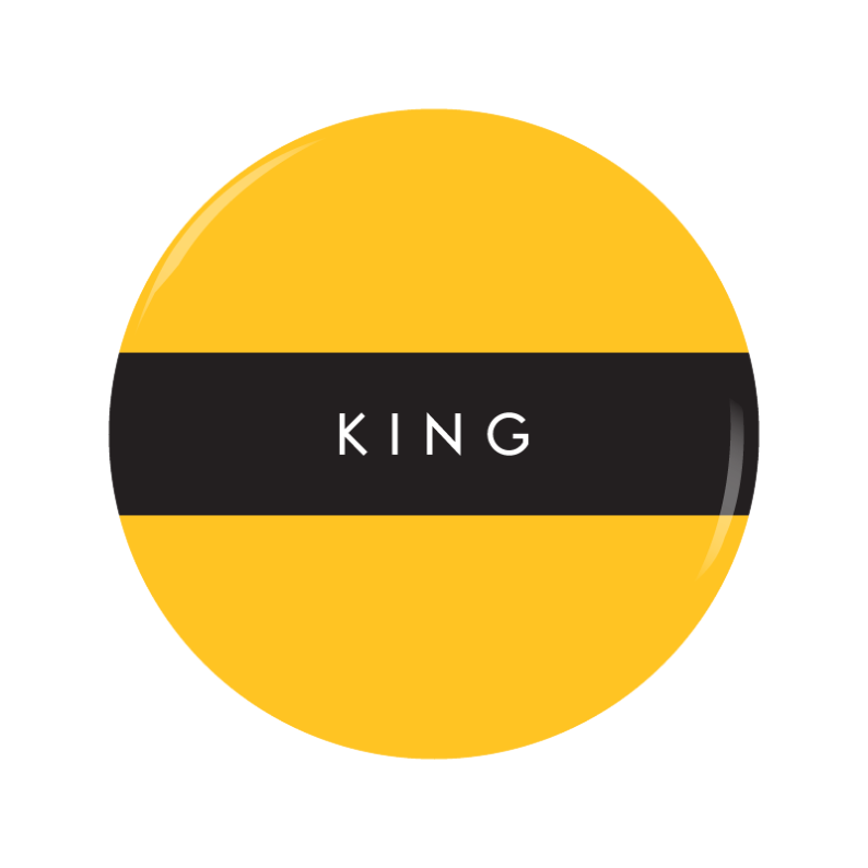 KING button