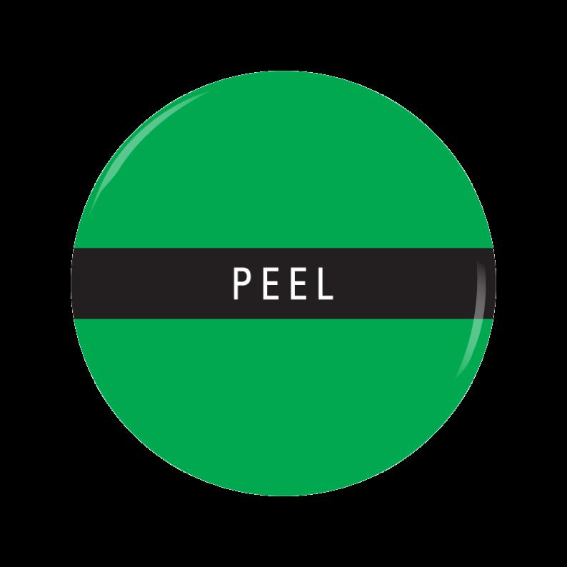 PEEL button