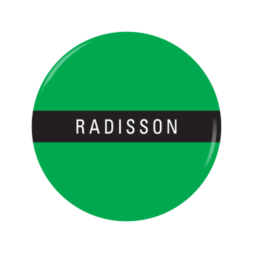 RADISSON button