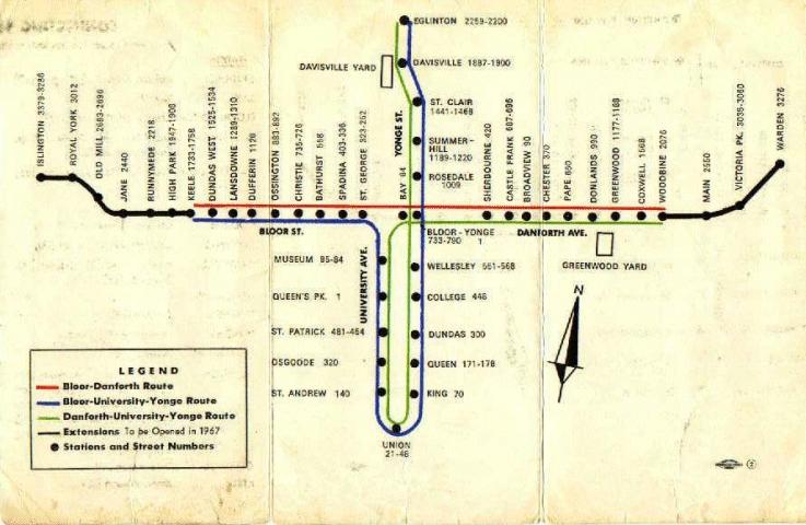 TTC in 1966. (courtesy Transit Toronto)