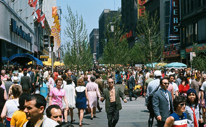 Yonge Street Mall on Queen, ca. 1971 [City of Toronto Archives s1465_fl0312_it0055]