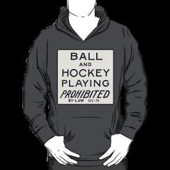ball & hockey playing prohibited - hoodie silhouette
