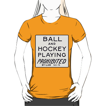 ball & hockey playing prohibited - womens silhouette