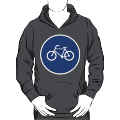 bicycle route - hoodie silhouette