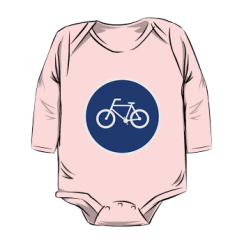 bicycle route - onesie silhouette