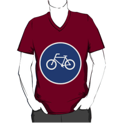 bicycle route - vneck silhouette