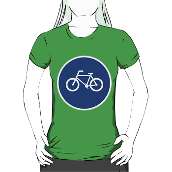 bicycle route - womens silhouette