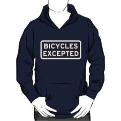 bicycles excepted - hoodie silhouette