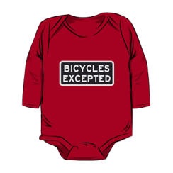 bicycles excepted - onesie silhouette