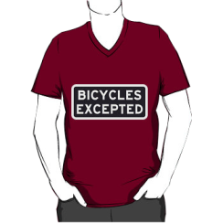 bicycles excepted - vneck silhouette