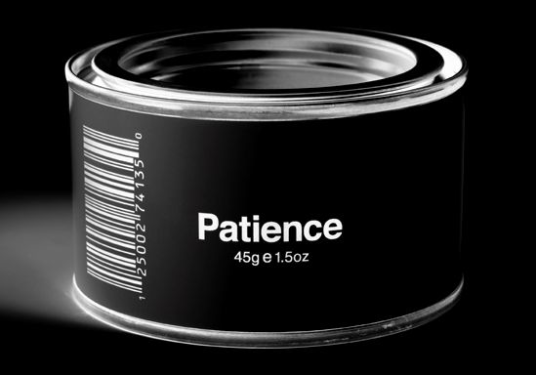 This is literally a 45g can of Patience.