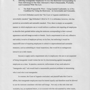 Page 18 [V. Allowing Transgender Employees To Use The Restroom Corresponding To Their Self-Image Is The Only Alternative That Is Reasonable, Workable, And Consistent With The Law]