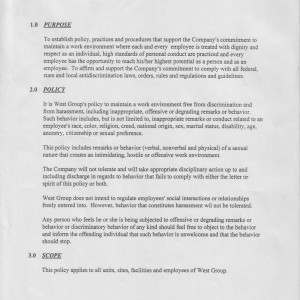 Page 1 [Purpose, Policy, Scope]