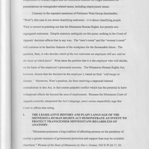 Page 2 [I. The Legislative History and Plain Language of the Minnesota Human Rights Act Demonstrate an Intent to Protect Transgender Minnesotans Regardless of Anatomy]
