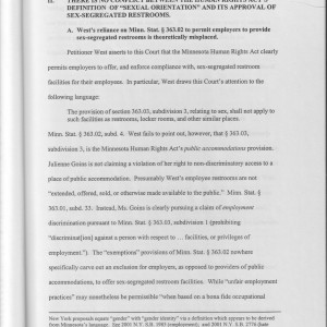 "Page 9 [II. There Is No Conflict Between the Human Rights Act's Definition of ""Sexual Orientation"" and Its Approval of Sex-Segregated Restrooms]"