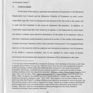 Page 18 [Legal Argument: V. Conclusion]