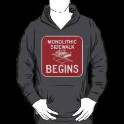 monolithic sidwalk begins - hoodie silhouette