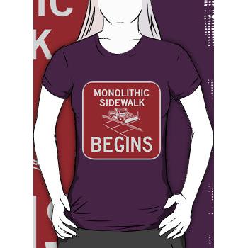 monolithic sidwalk begins - womens silhouette