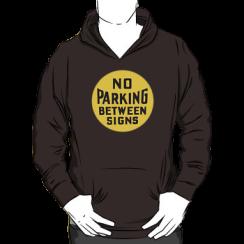 no parking between signs - hoodie silhouette