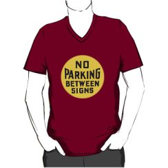 no parking between signs - vneck silhouette