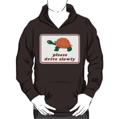 please drive slowly - hoodie silhouette