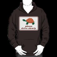please drive slowly - hoodie silhouette