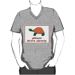 please drive slowly - vneck silhouette