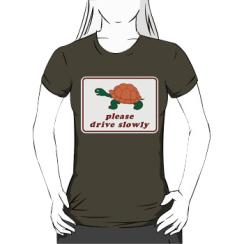 please drive slowly - womens silhouette